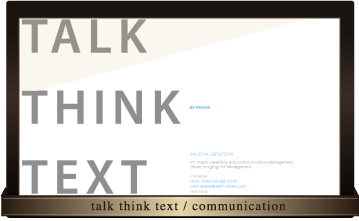 talk think text